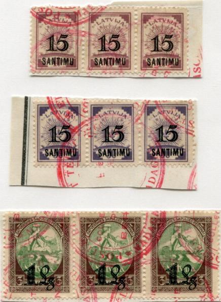 """Pastmarkas ar Madagaskāras """"Specimen"""" zīmogiem. Bija piedāvātas izsolē par 440 $."""